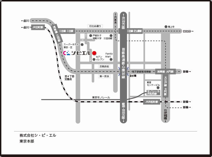 東京本部のマップ
